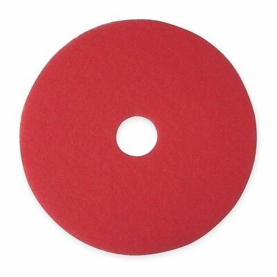 "20"" Red Buffing and Cleaning Pad, Non-Woven Polyester Fiber,PK5 (LS1692-3U094*K)"