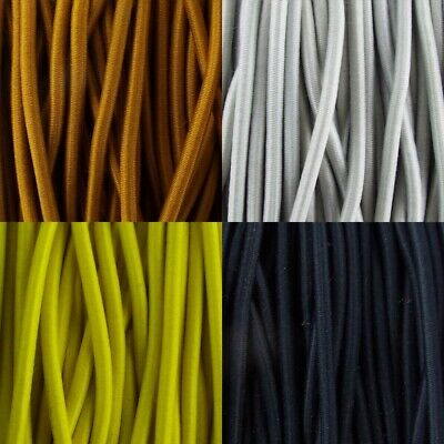 4 COLOUR 3mm Elastic Cord Lace Anorak Shock Bungee Round Stretch BUY 1 2 4 8m+