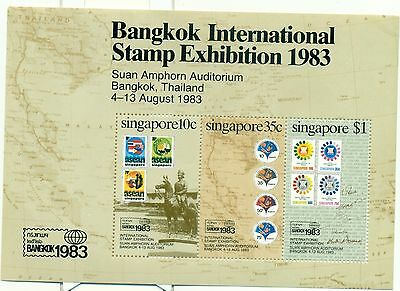 STAMP ON STAMP - SINGAPORE 1990 150 Years Postage Stamps block