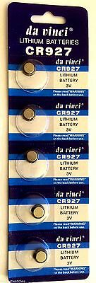 5 x CR927 BATTERY LITHIUM 3v BUTTON COIN CELL BATTERIES Expiry 12/2019