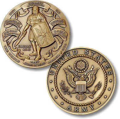 U.S. Army / Armor of God - High Relief Bronze Challenge Coin