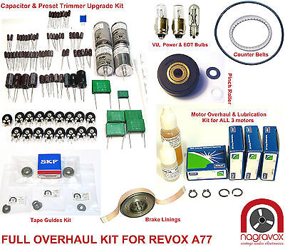 Revox A77 FULL electronic and mechanical overhaul kit