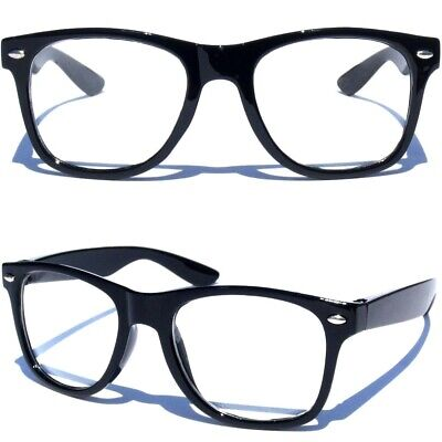 SMALL KIDS SIZE CLEAR LENS GLASSES Horn Rim Nerd Hipster Geek Retro Toddler
