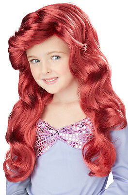 Brand New Little Mermaid Ariel Princess Kids Child Costume Wig - Red