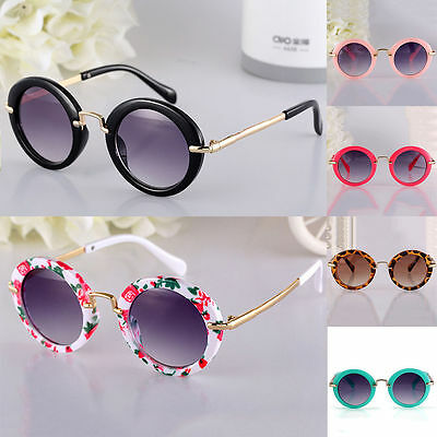 Fashion Hot New Goggles Metal Glasses Kids Girls Boys Anti-UV Wild Sunglasses
