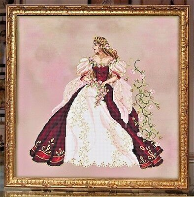 """SALE! COMPLETE X STITCH KIT """"SPRING BEAUTY PRINCESS RL32"""" by Passione Ricamo"""