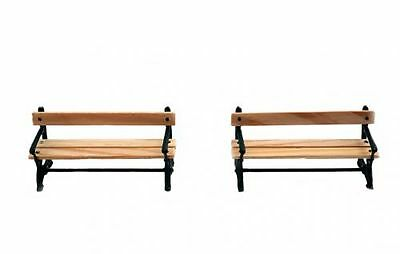 Zenner 2 Wooden benches with Echholz for G Scale, Scale 1:22,5