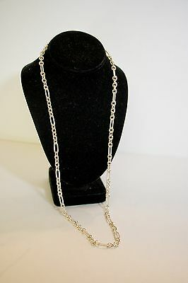 "Sterling Silver .925 31"" Heavy Fancy Link Necklace~Weighs 2.3oz.~Beautiful!!!"