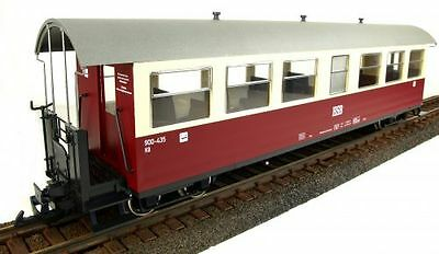 Train Line45 Set Of 3 passenger car HSB, red-beige, 7 Window, G Scale, for LGB K