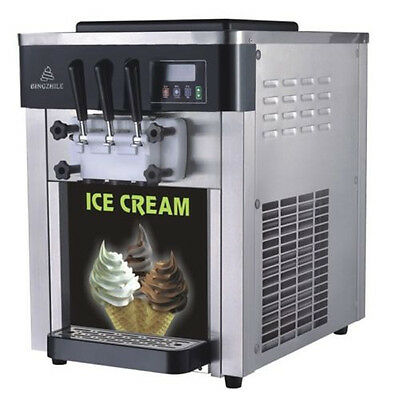 VINOVO Economic Commercial Soft Serve Ice Cream Machine 18L/H With 2 Hoppers