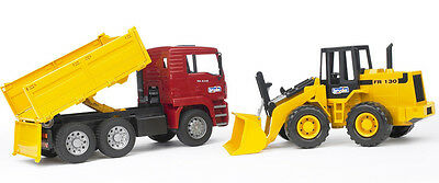 Bruder 1:16 MAN TGA Construction Truck with Articulated Road Loader (02752)
