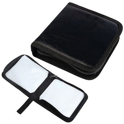 40 Disc CD VCD DVD Storage Box Bag Organizer Holder Carrying Case Wallet Welcome