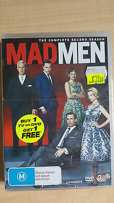 Mad Men : Season 2 [ 3 DVD Set ] NEW & SEALED, Region 4 ,Fast Post...7625