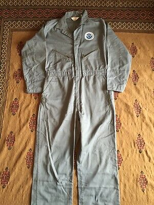 Vtg WALLS MECHANIC SUIT Sz 44L Embroidered NOAA Made in USA Workwear Rockabilly