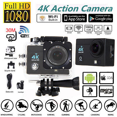 4K Ultra SJ9000 Waterproof Wifi Sport Action Camera 2.0 Inch DV 1080P HD Cam DVR