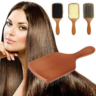 Natural Wooden Hair Loss Health Care Massage Brush Comb Head Massaging Relaxing