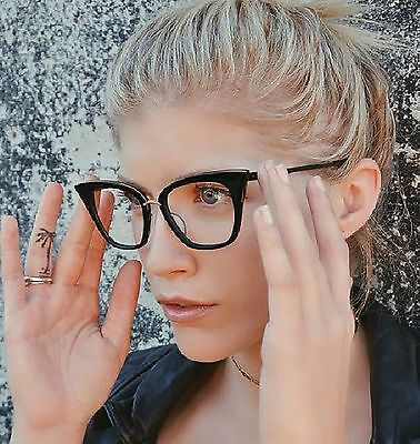 New Clear Lens Cat Eye Fashion Party Glasses Women's
