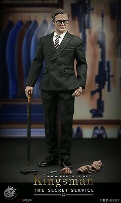 """POPTOYS EX07 1/6 Scale Kingsman Harry Hart Colin Firth 12""""Action Fgiure Collect"""