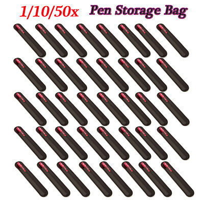 1-50Pcs Leather Single Pen Storage Case Pouch Sleeve Bag Holder Black/Coffee