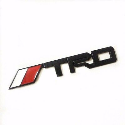 for Toyota TRD emblem badge sticker black auto trunk decal Camry Corolla Yaris