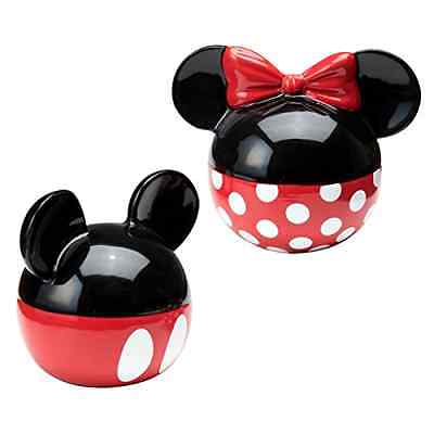 Ceramic Salt and Pepper Set Disney Mickey and Minnie Mouse Hand Painted Shaker