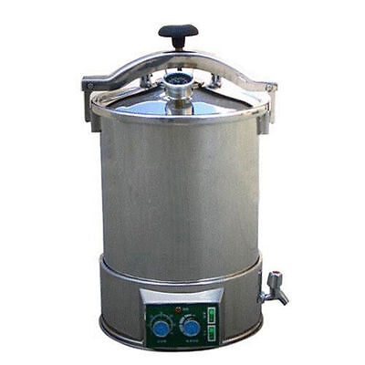 24L Medical High Pressure Steam Autoclave Sterilizer Stainless Steel 220V Dental