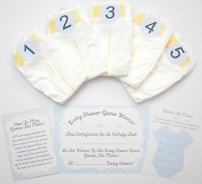 Dirty Nappy Baby Shower Guessing Game Boy Girl Unisex Guess The Mess Poo Diaper