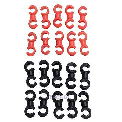10pcs Cycle Bike Bicycle MTB Brake Gear Cable S Style Clips House Hose Guides