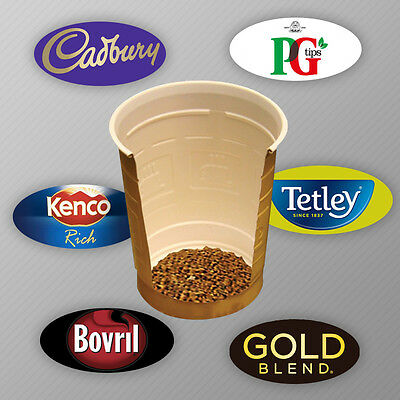 300 x Incup Drinks for Vending Machines 73mm Cadbury,Gold Blend,Latte, Bovril,