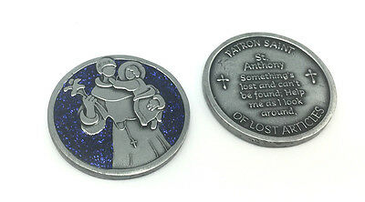 SAINT COMPANION COIN Saint Anthony, Pocket Token with Message or Prayer