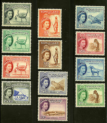 Somaliland Protectorate   1953-58   Scott #128-139   Mint Never Hinged Set