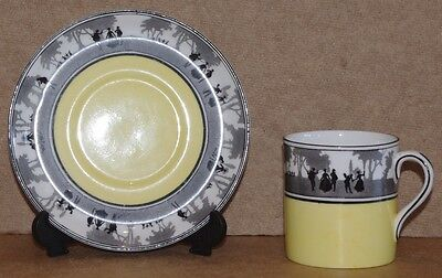 ### Vintage Foley China Silhouette Coffee Can And Saucer ###