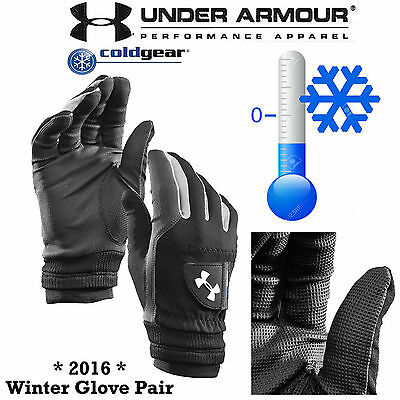 UNDER ARMOUR WINTER GOLF GLOVES ColdGear® THERMAL GOLF GLOVES MENS PAIRS * NEW *