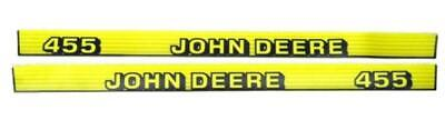 John Deere Hood Trim Decal Set - M130324 M130325 - 455 - Serial #s Above 070000