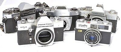 35mm Film Cameras SLRs Praktica EXA Minolta Spares or Repairs