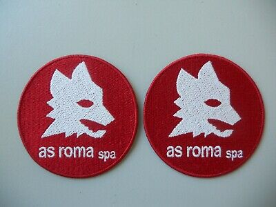Roma As N.2 Patch Lupa Ricamata Termoadesiva Diam 7-Replica
