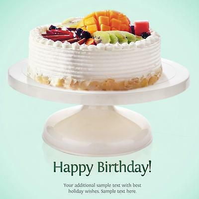 28*7cm Cake Decorating Icing Rotating Revolving Display Turntable Stand