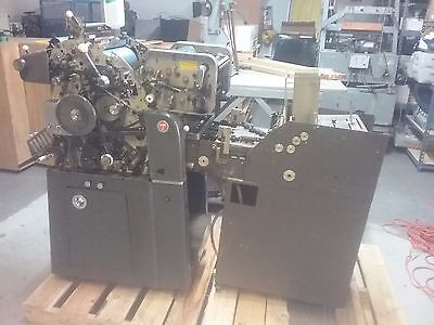 2 Color Ab Dick 360 Envelope Press, Press Specialties Envelope Feeder