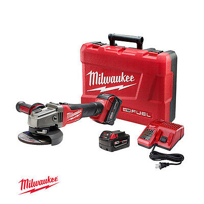 Milwaukee/M18 CAG125X-402C/ Brushless Charge Grinder, 18V, 8500rpm, Battery 2pcs