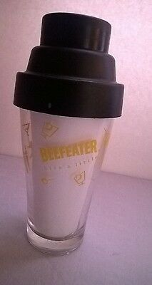 Beefeater Shaker Branded barware - LIVE A LITTLE cocktail mixer w/ strainer lid
