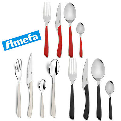Amefa Eclat Cutlery Set, 24 Piece Stainless Steel Kitchen Dining Table