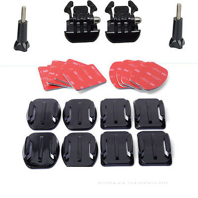 GoPro HD Hero 2 3+ 4 5 Flat Curved 3M Adhesive Sticky Mounts Pads x8 Accessories