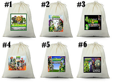 24 Plants vs Zombies  birthday party favor Candy Loot Treat Drawstring Bags