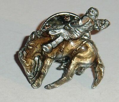 Rodeo Bronco Rider Collector's Lapel Pin - Jewelry