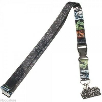 Star Wars Multi Character Lanyard Neck Strap Necklace ID Holder Keychain