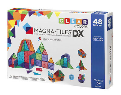 Magna-Tiles Clear Colors 48 pc DX Set - FREE & FAST SHPPING