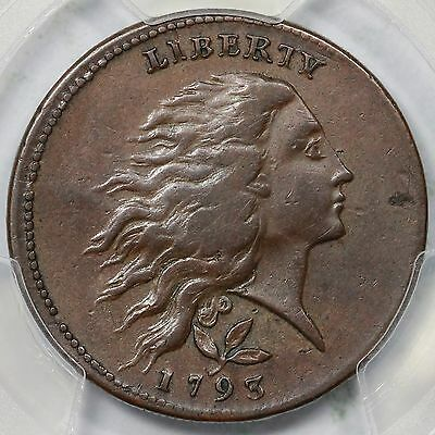 1793 S-6 R-3 PCGS XF 40 Vine and Bars Edge Wreath Large Cent Coin 1c