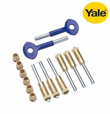 Yale 6 Sash Window Locks Polished Brass  P119 - New