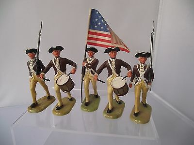 Elastolin AWOI AW1 American Soldiers Flag Bearer Drummers