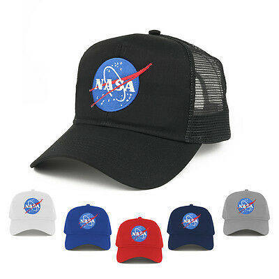 38c127c6ae8b3 NASA Insignia Small Space Logo Embroidered Patch Snapback Mesh Trucker Cap